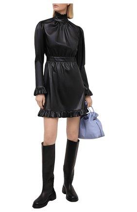 Женское платье из экокожи MASTERPEACE черного цвета, арт. MP-ECO21-02 | Фото 2
