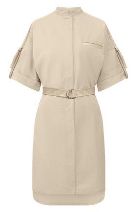 Женское хлопковое платье YVES SALOMON бежевого цвета, арт. 20EYR03996C0XW | Фото 1