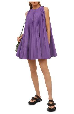 Женское платье VALENTINO фиолетового цвета, арт. VB3VAV604H2 | Фото 2