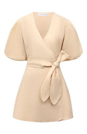 Женское льняное платье FAITHFULL THE BRAND бежевого цвета, арт. FF1685-PSD | Фото 1
