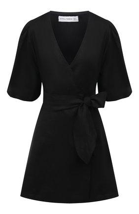 Женское льняное платье FAITHFULL THE BRAND черного цвета, арт. FF1685-BLK | Фото 1