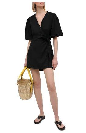 Женское льняное платье FAITHFULL THE BRAND черного цвета, арт. FF1685-BLK | Фото 2