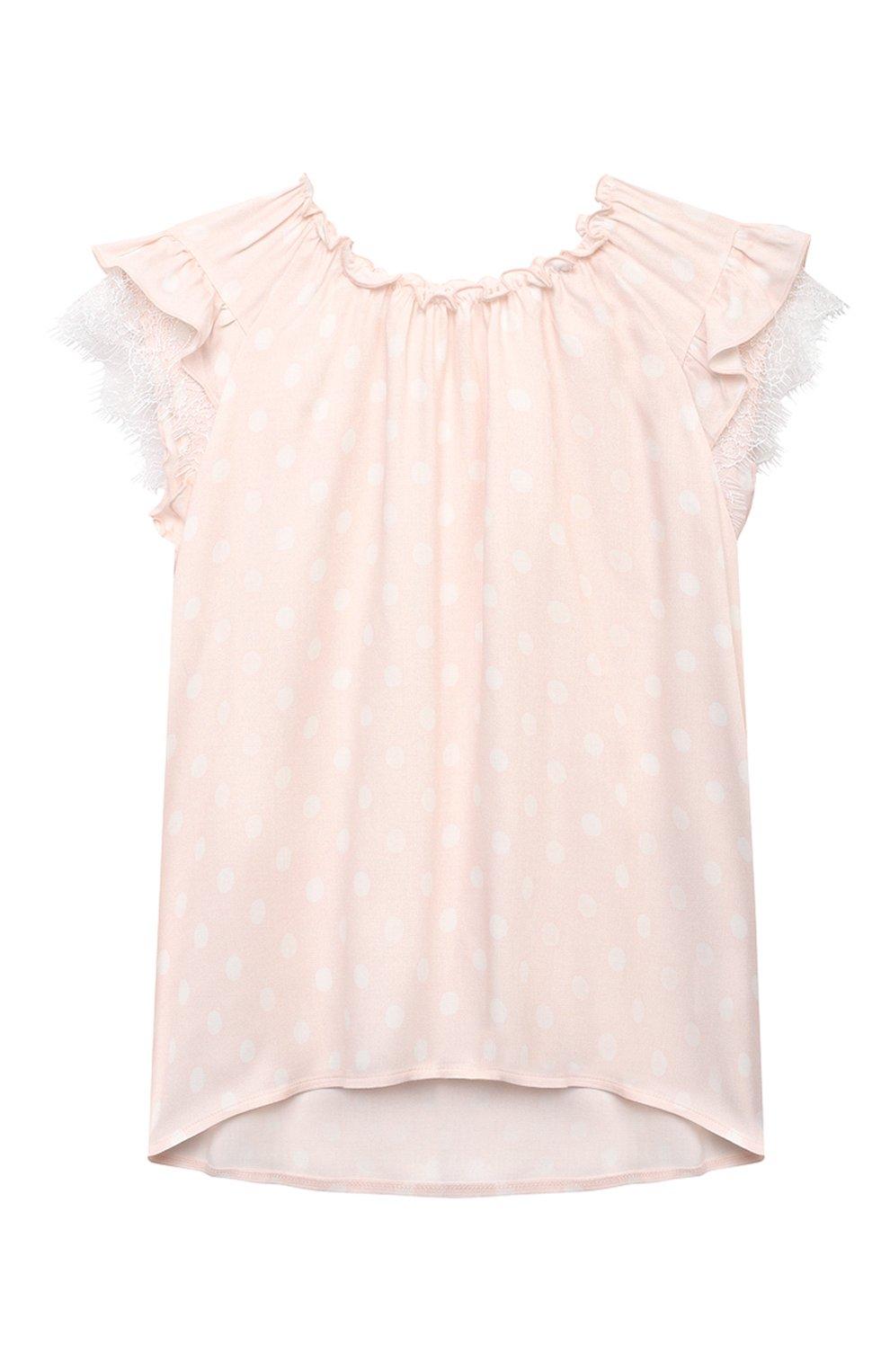 Детская пижама AMIKI CHILDREN светло-розового цвета, арт. ADELIA   Фото 2