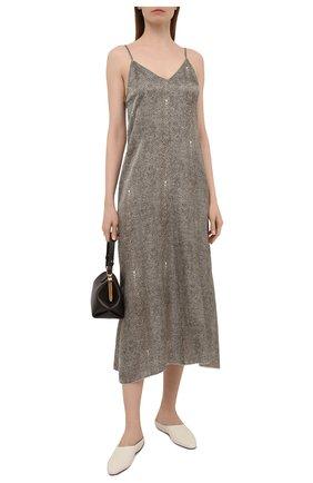 Женское платье FORTE_FORTE хаки цвета, арт. 8104 | Фото 2