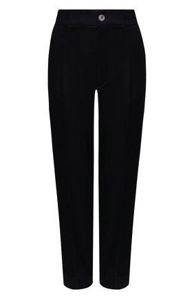 Женские брюки из вискозы FORTE_FORTE темно-синего цвета, арт. 8019 | Фото 1