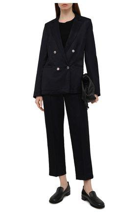 Женские брюки из вискозы FORTE_FORTE темно-синего цвета, арт. 8019 | Фото 2