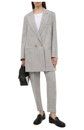 Женские брюки FORTE_FORTE серого цвета, арт. 8010 | Фото 2