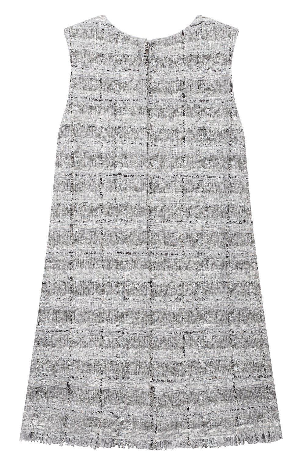 Детское твидовое платье DOLCE & GABBANA серебряного цвета, арт. L52DN3/FQ0AC/8-14 | Фото 2