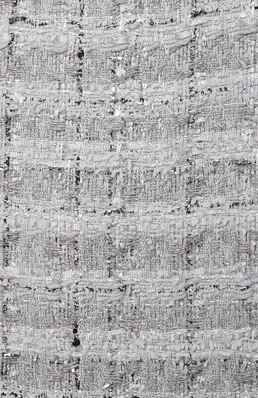 Детское твидовое платье DOLCE & GABBANA серебряного цвета, арт. L52DN3/FQ0AC/8-14 | Фото 3