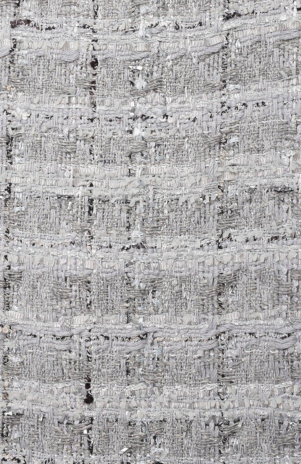 Детское твидовое платье DOLCE & GABBANA серебряного цвета, арт. L52DN3/FQ0AC/2-6 | Фото 3