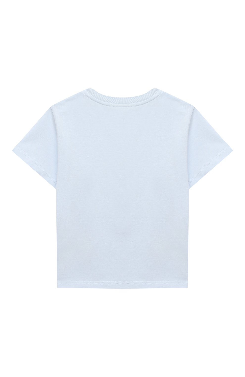 Детский хлопковая футболка FENDI голубого цвета, арт. BUI013/ST8/12M-24M   Фото 2