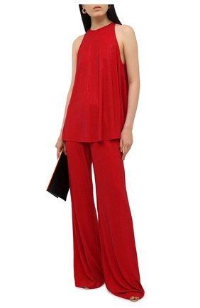Женские брюки из вискозы ALEXANDRE VAUTHIER красного цвета, арт. 211PA1353B 1029B-202 | Фото 2