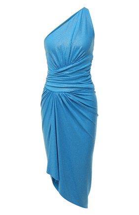 Женское платье из вискозы ALEXANDRE VAUTHIER голубого цвета, арт. 211DR1408B 1029B-202 | Фото 1