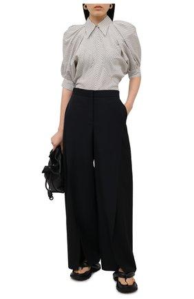 Женские шерстяные брюки LOEWE черного цвета, арт. S540Y04X31 | Фото 2