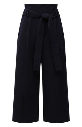 Женские хлопковые брюки LOEWE темно-синего цвета, арт. S540Y04W05 | Фото 1