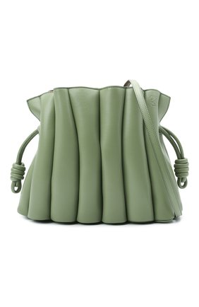 Женская сумка flamenco LOEWE зеленого цвета, арт. A411FC4X01   Фото 6 (Сумки-технические: Сумки через плечо; Размер: medium; Материал: Натуральная кожа; Ремень/цепочка: На ремешке)