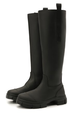 Женские резиновые сапоги GANNI черного цвета, арт. S1527 | Фото 1