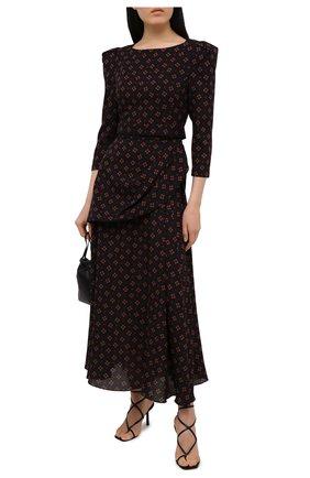 Женские кожаные босоножки LE SILLA черного цвета, арт. 5140S080H3PPMIN   Фото 2