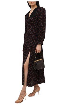 Женские кожаные босоножки LE SILLA коричневого цвета, арт. 5140S080H3PPMIN | Фото 2