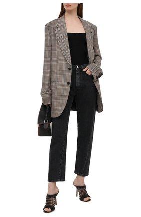 Женские кожаные мюли LE SILLA черного цвета, арт. 5150Q100C3PPNST   Фото 2