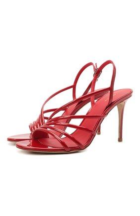 Женские кожаные босоножки LE SILLA красного цвета, арт. 8536S090R1PPKAB | Фото 1