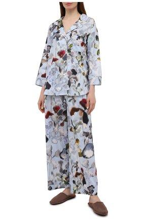 Женская хлопковая пижама ZIMMERLI светло-голубого цвета, арт. 5143-39072 | Фото 1