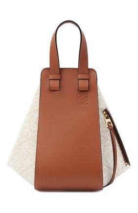 Женская сумка hammock small LOEWE светло-коричневого цвета, арт. A538S35X29 | Фото 1