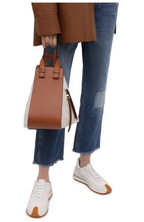 Женская сумка hammock small LOEWE светло-коричневого цвета, арт. A538S35X29 | Фото 2