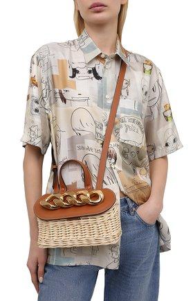 Женская сумка chain lid basket small JW ANDERSON коричневого цвета, арт. HB0321 PG0444 | Фото 2