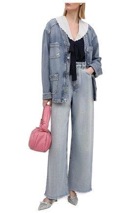 Женский джинсовый жакет MIU MIU синего цвета, арт. GWG116-U8R-F0008 | Фото 2