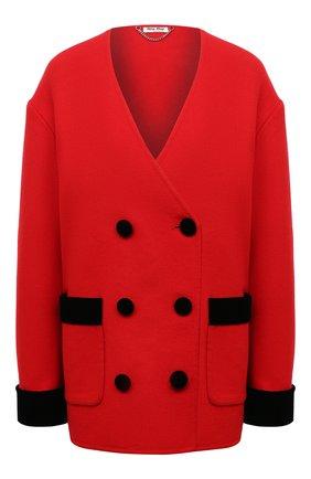 Женский шерстяной жакет MIU MIU красного цвета, арт. MH1649-LC0-F0604   Фото 1