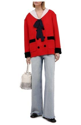 Женский шерстяной жакет MIU MIU красного цвета, арт. MH1649-LC0-F0604   Фото 2