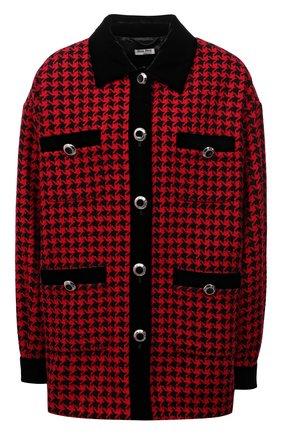 Женская куртка из шерсти и хлопка MIU MIU красного цвета, арт. ML670-1N64-F0011 | Фото 1