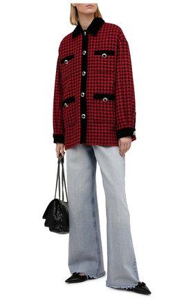 Женская куртка из шерсти и хлопка MIU MIU красного цвета, арт. ML670-1N64-F0011 | Фото 2