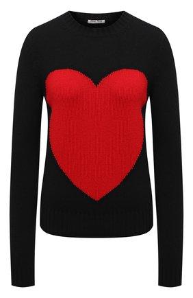 Женский шерстяной свитер MIU MIU черного цвета, арт. MML453-1H3S-F0002   Фото 1