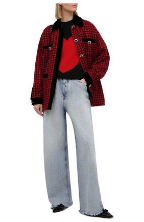 Женский шерстяной свитер MIU MIU черного цвета, арт. MML453-1H3S-F0002   Фото 2