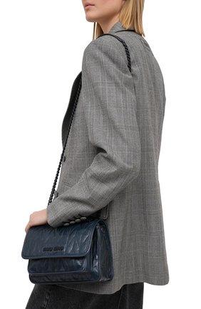 Женская сумка MIU MIU синего цвета, арт. 5BD161-2D6C-F0E93-OOO | Фото 2