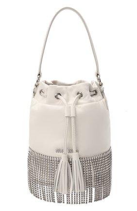 Женская сумка MIU MIU белого цвета, арт. 5BE014-2B6J-F0009-CFM | Фото 1