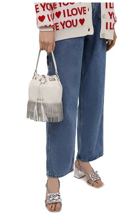 Женская сумка MIU MIU белого цвета, арт. 5BE014-2B6J-F0009-CFM | Фото 2