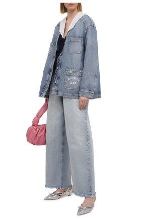 Женские джинсы MIU MIU синего цвета, арт. GWP333-1SXP-F0013 | Фото 2