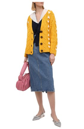 Женская шелковая блузка MIU MIU синего цвета, арт. MK1536-1YS3-F0124   Фото 2