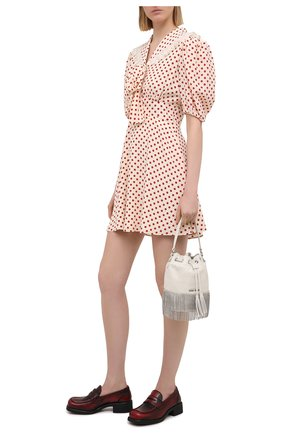 Женские кожаные пенни-лоферы MIU MIU бордового цвета, арт. 5D206D-P70-F0D56-040   Фото 2