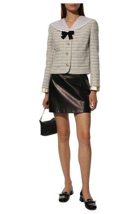 Женские кожаные туфли MIU MIU черного цвета, арт. 5D480D-6OR-F0002-035 | Фото 2