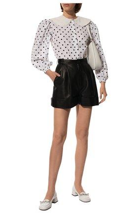 Женские кожаные туфли MIU MIU белого цвета, арт. 5D480D-6OR-F0009-035 | Фото 2