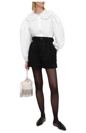 Женская кожаные дерби MIU MIU черного цвета, арт. 5E442D-H27-F0002-005   Фото 2