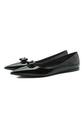 Женские кожаные балетки MIU MIU черного цвета, арт. 5F465D-XUW-F0002-005 | Фото 1