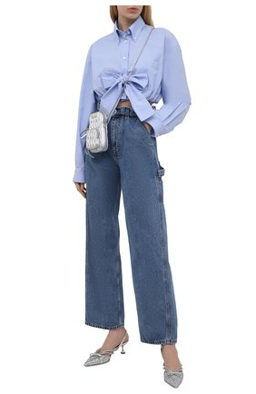 Женские туфли MIU MIU серебряного цвета, арт. 5I402D-36B-F0118-D055   Фото 2