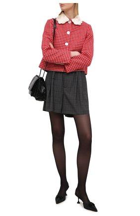 Женские туфли MIU MIU черного цвета, арт. 5I459D-049-F0002-065   Фото 2