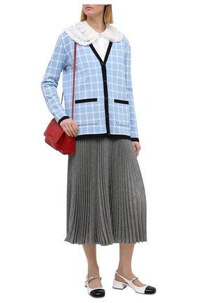 Женские кожаные туфли MIU MIU черно-белого цвета, арт. 5I460D-ZHV-F0964-035 | Фото 2