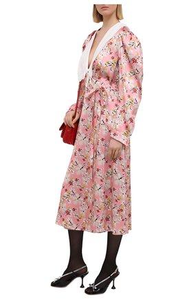 Женские кожаные босоножки MIU MIU черного цвета, арт. 5X398D-3LE9-F0I89-M085 | Фото 2